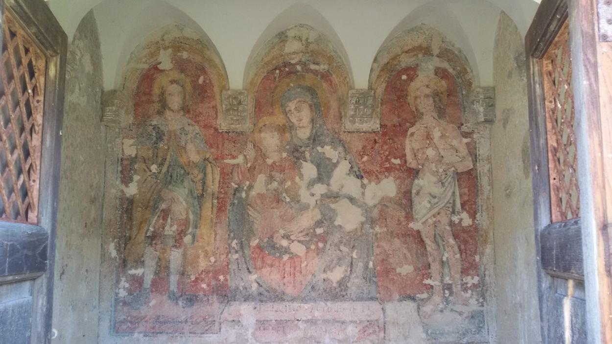 affresco chiesetta madonna di Costantinopoli Mottola